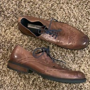Men's STEVE MADDEN Brown Leather Higgens Shoes 11